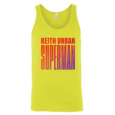 Keith Urban Superman Logo Tank Top