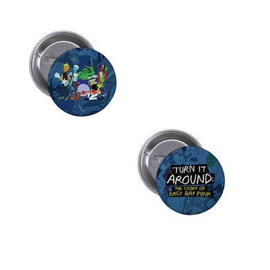 Green Day Turn It Around Drawing Button Set