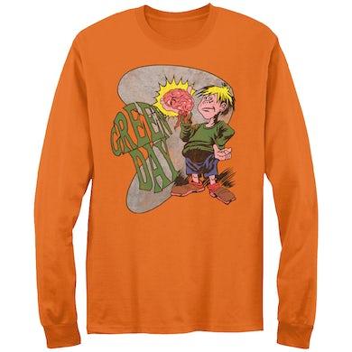 Green Day Brain Boy Long Sleeve T-shirt