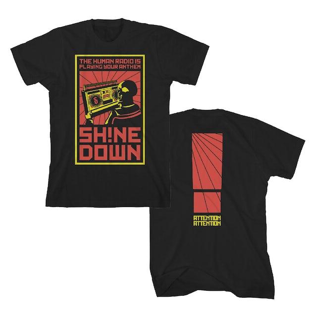 Shinedown Boombox Humanity T-Shirt