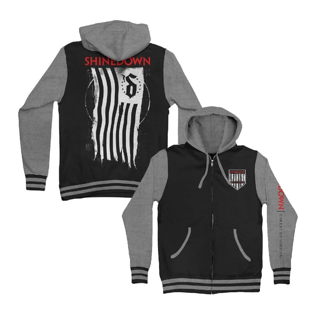 Shinedown Shredded Flag Hoodie