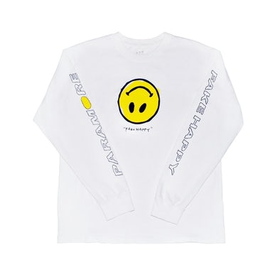 Paramore Fake Happy Long Sleeve (White)