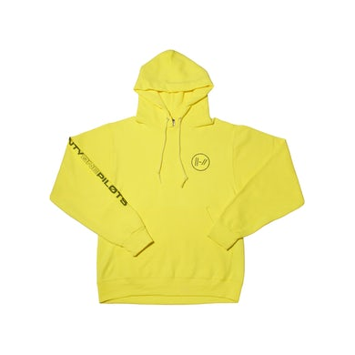 Twenty One Pilots Embroidered Round Logo Hoodie (Yellow)