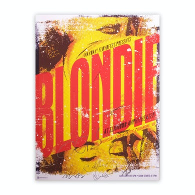 Blondie Signed 2016 Roanoke Show Poster