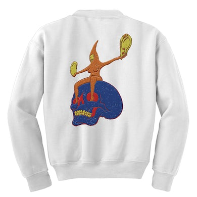 The Flaming Lips Skull Rider Embroidered Crewneck