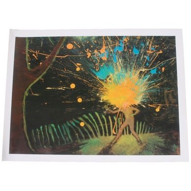 The Flaming Lips I Became Outerspace Lithograph