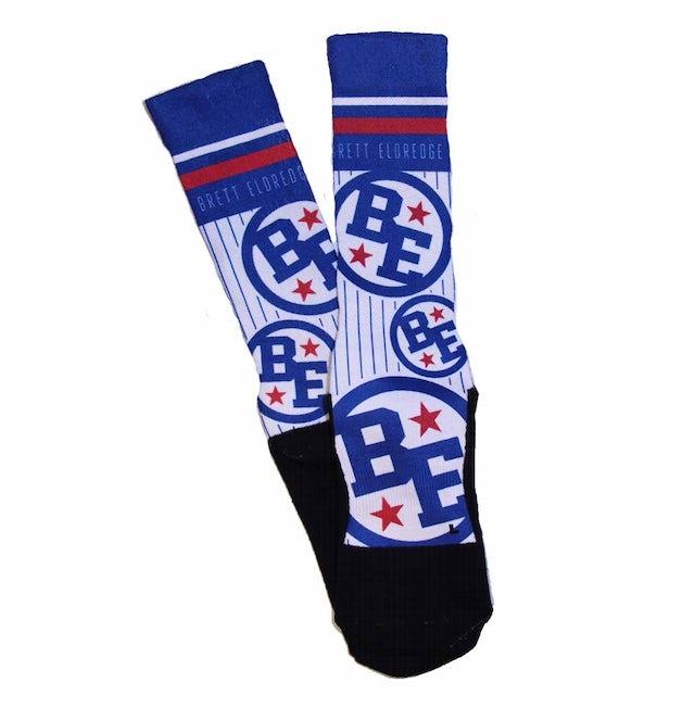 Brett Eldredge BE Pinstripe Socks