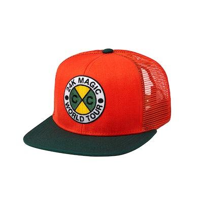 Bruno Mars 24K CxC World Tour Snapback (Orange)