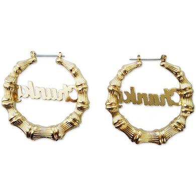 Bruno Mars Chunky Script Earrings