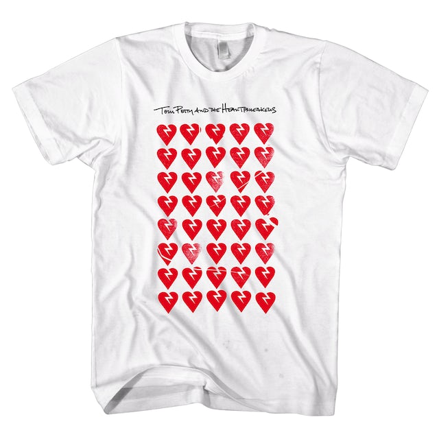 Tom Petty and the Heartbreakers Allover Hearts T-shirt