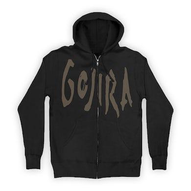 Gojira Logo Zip Up Hoodie (Black/Brown)