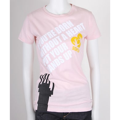 3OH!3 Born Without a Heart Juniors T-Shirt