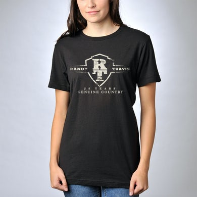 Randy Travis 25 Years Anniversary Logo T-Shirt