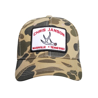 Chris Janson Camo Antler Hat