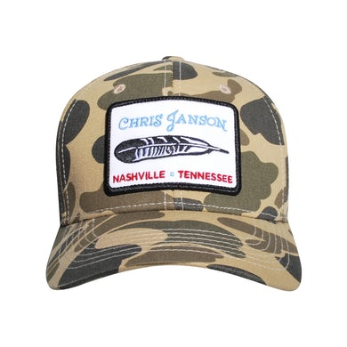 Chris Janson Camo Feather Hat