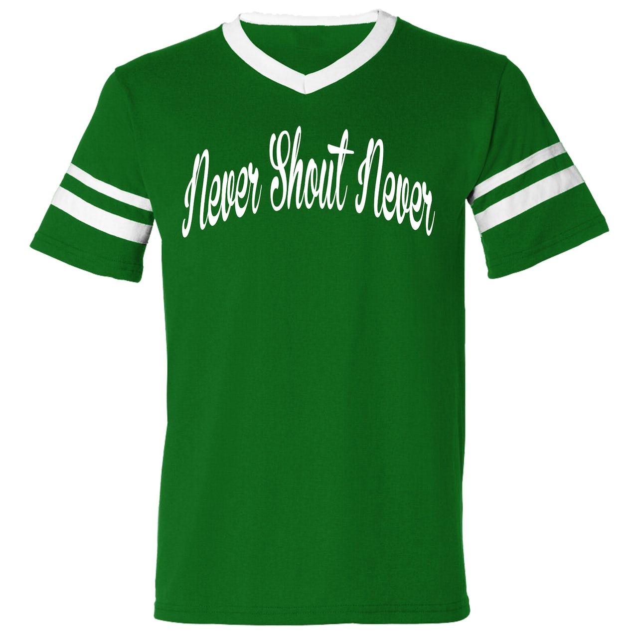 Never Shout Never Football Script T-Shirt