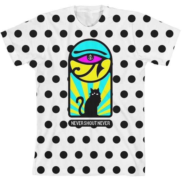 Never Shout Never Cat Eye All Over Dot Unisex T-Shirt