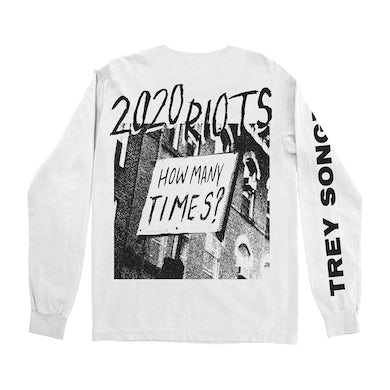 2020 Riots White Long Sleeve T-Shirt