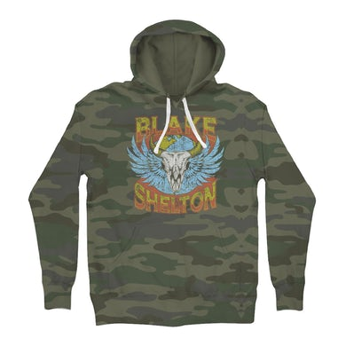 Blake Shelton Friends And Heroes Camo Pullover Hoodie