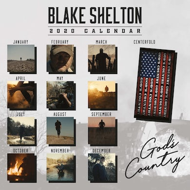 Blake Shelton God's Country 2020 Calendar