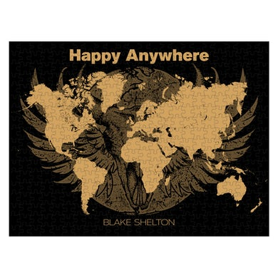 Blake Shelton Happy Anywhere Puzzle