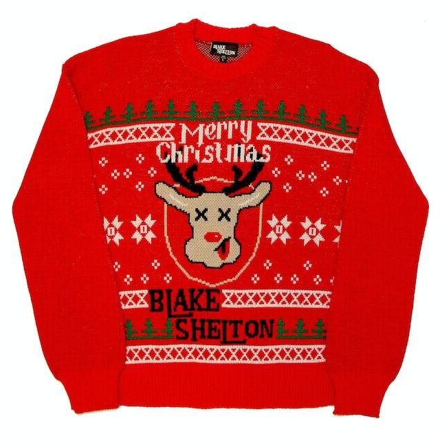 Blake Shelton Rudolph Christmas Sweater