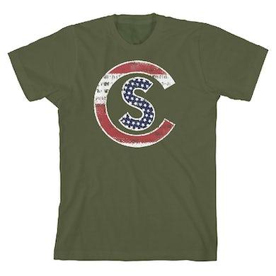 Cole Swindell Patriotic Military Green T-Shirt