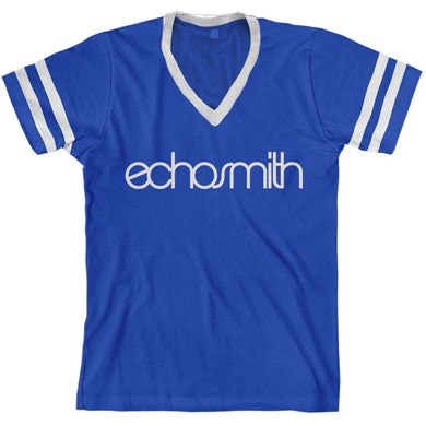 Echosmith Logo Striped V-Neck T-Shirt