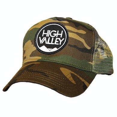 High Valley Logo Camo Trucker Hat