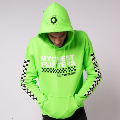 All Time Low Checkered Hoodie (Green)
