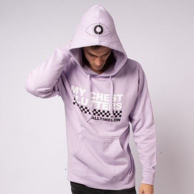 All Time Low Checkered Hoodie (Lavender)