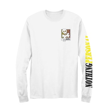 All Time Low Nothing Personal Leopard Skull and Bones Long Sleeve (White)