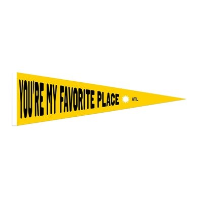 All Time Low Favorite Place Pennant  (Limited Edition)