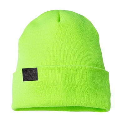 All Time Low Outline Sunshine Safety Green Beanie