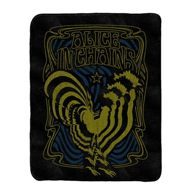 Alice In Chains Psychedelic Rooster Blanket