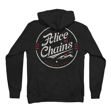 Alice In Chains Circle Rainier Stamp Zip Hoodie