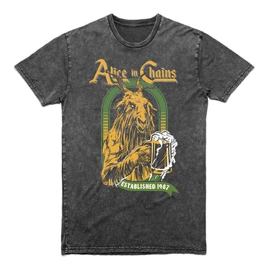 Alice In Chains Devil's Brew Mineral Wash T-Shirt