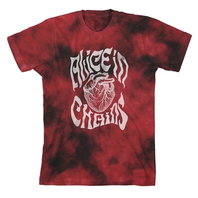 Alice In Chains Tie Dye Red Transplant T-Shirt