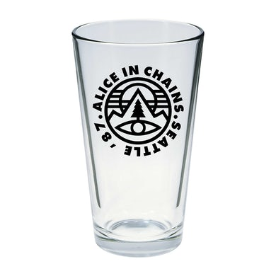 Alice In Chains Pine Emblem 87 Pint Glass