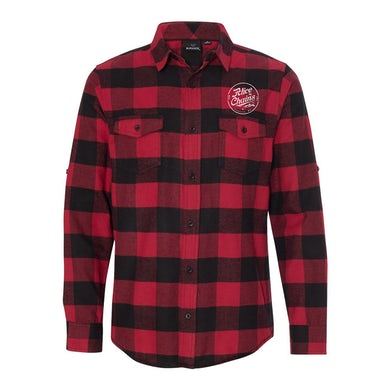 Alice In Chains Circle Logo Red Flannel Shirt