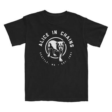 Alice In Chains Lone Mutt Dog Black T-Shirt