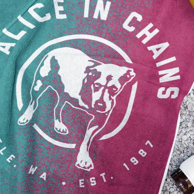 Alice In Chains Gradient Dog Beach Towel