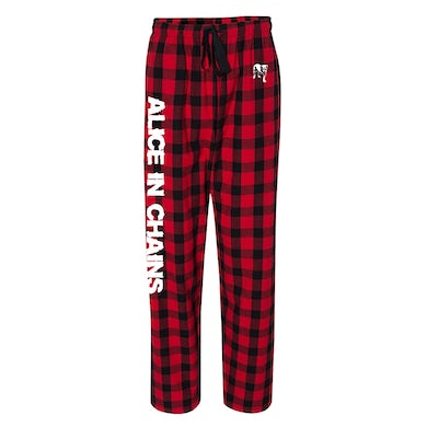 Alice In Chains AIC Red Plaid Pajama Pants