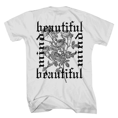 Old English Floral White T-Shirt