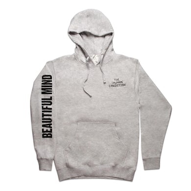 Beautiful Mind Embroidered Pullover Hoodie (Heather Grey)
