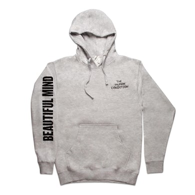 Jon Bellion Beautiful Mind Embroidered Pullover Hoodie (Heather Grey)