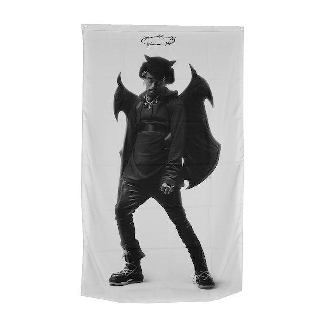 Lil Uzi Vert Metal Devil Flag