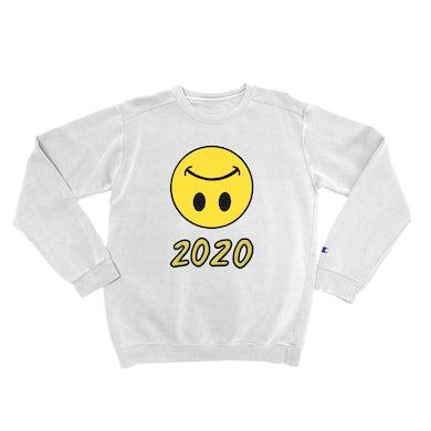 Lil Uzi Vert LUV Upside Down Smiley 2020 White Crewneck