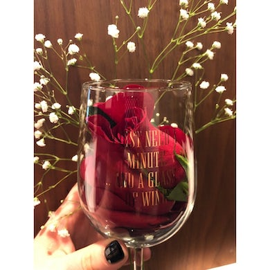 Kelly Clarkson Just A Minute Wine Glass