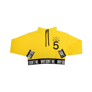 faee1332a844 Why Don t We · Crop Top Hoodie (Yellow)